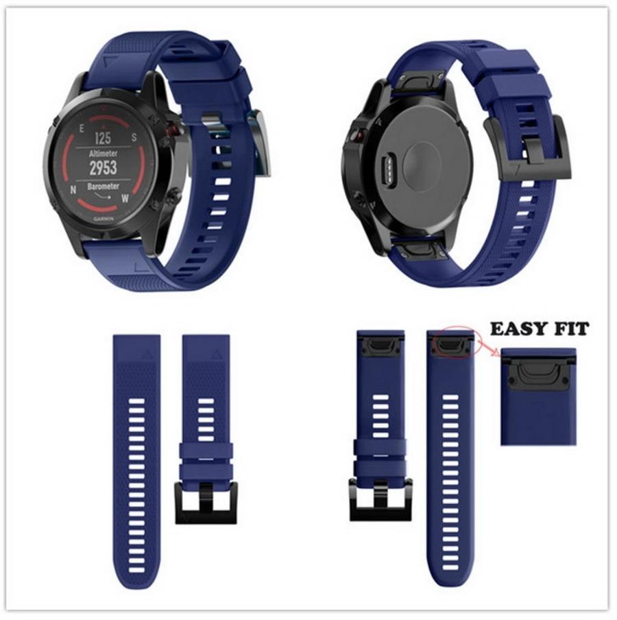 100pcs 26/22/20MM Watchband Strap for Garmin Fenix 5X 3 3HR D2 S60 Watch Quick Release Silicone Easyfit Wrist Band
