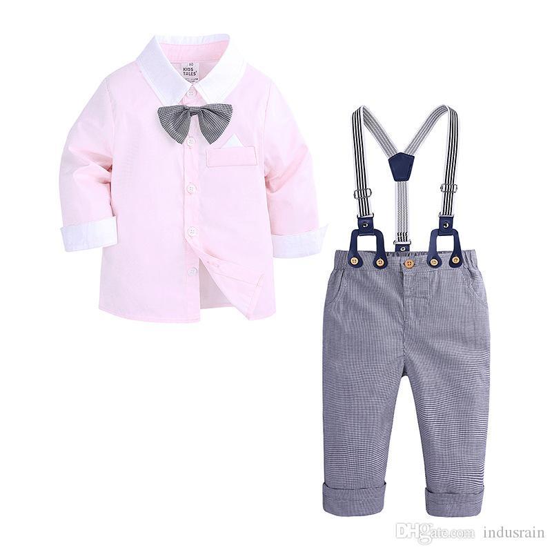 Детская Одежда Весна И Осень Мальчик Набор 2019 Новый Малыш Мальчики Одежда Наборы Джентльмены Костюмы Chidldren Одежда 1 2 3 4 Лет