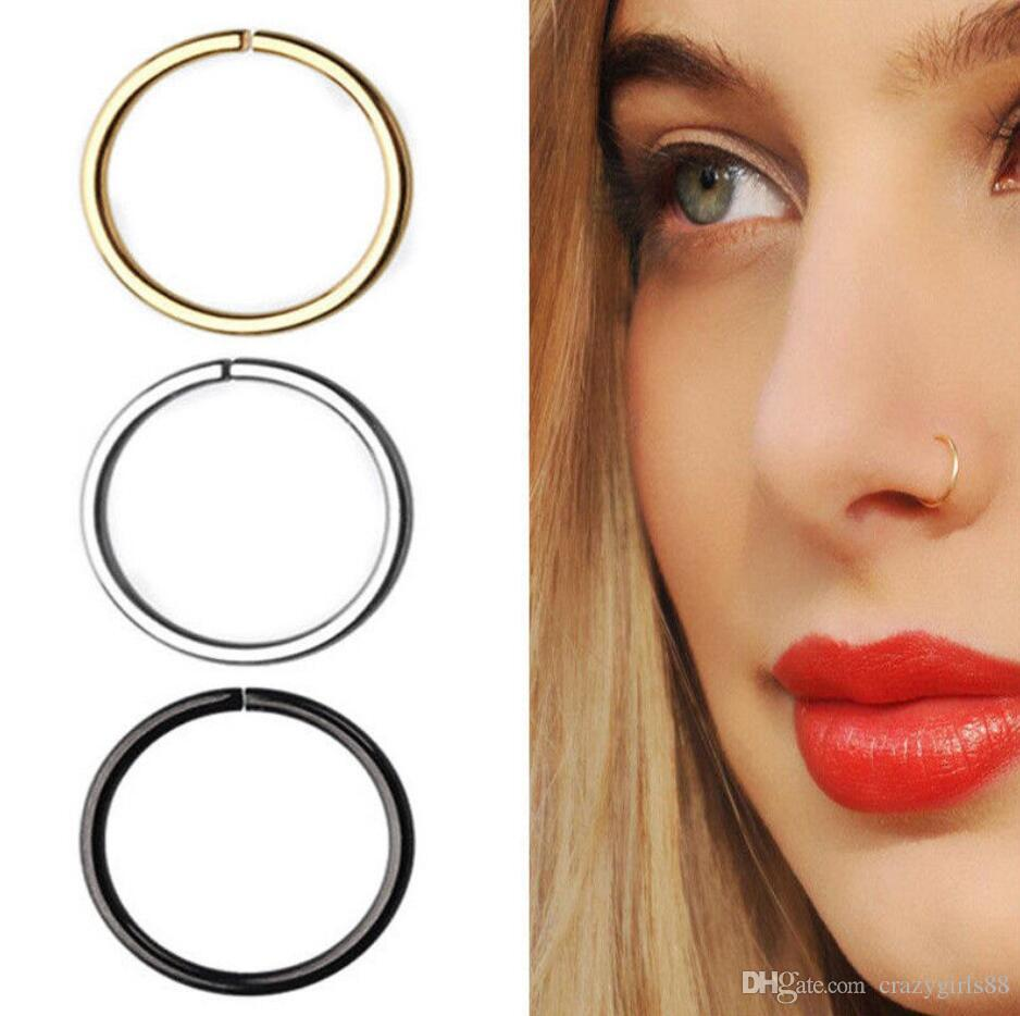 2020 Fake Nose Ring Septum Ring Hoop Cartilage Tragus Helix Small