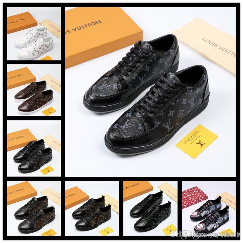A7 Design Vermelho Sneakers inferior Shoes Low Cut Spikes Apartamentos para Homens Mulheres Couro Calçados casuais das sapatilhas com saco de poeira