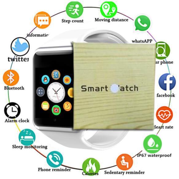100pcs A1 Smartwatch Smart-Uhren Niedriger Preis Bluetooth Wearable Männer Frauen Smart Watch Handy mit Kamera für Android Smartphone DHL geben