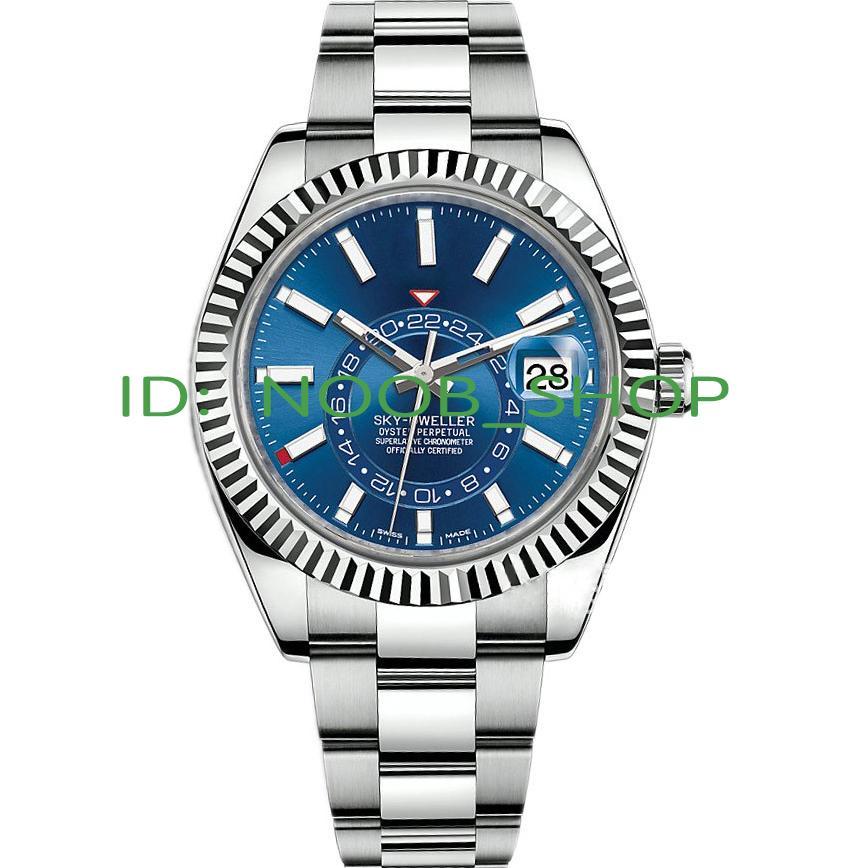 Montre Homme Top de haute qualité mécanique automatique d'affaires Sky-Dweller GMT Calendrier Montres en acier inoxydable lumineux Montre-bracelet étanche