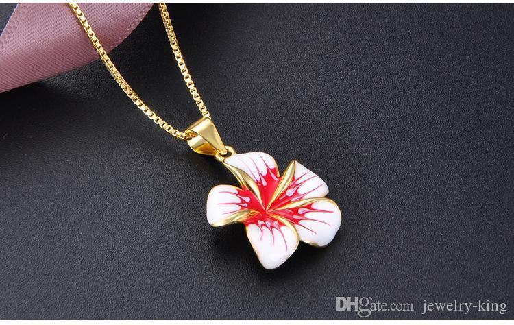 Валентина день подарков высшего качества S925 стерлингового серебра подвески S925 кулон эпоксидная цветок Аксессуары женские серебряные ожерелья DDS