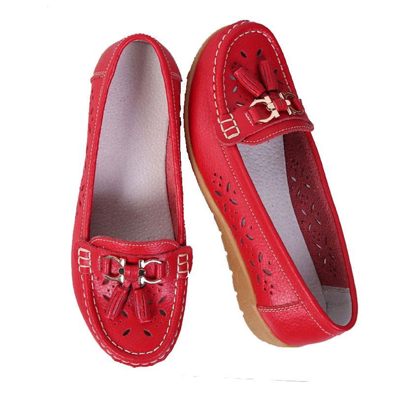 ocasionales de las mujeres zapatos de los planos de deslizamiento cuero genuino 2019 de la moda de las mujeres zapatos de las señoras zapatos mocasines mujer sólida y cómoda