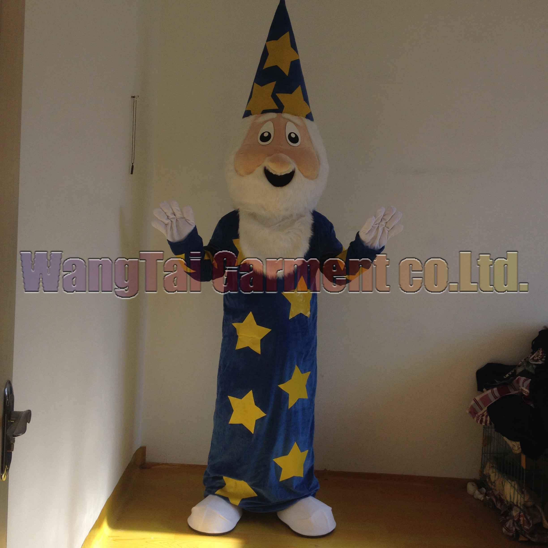 Magier-Maskottchenkostüm-freies Verschiffen Erwachsene Größe, wizard Maskottchenklage Plüschspielzeug Karneval Anime-Film klassischen Cartoon-Maskottchen Fabrikverkäufe.