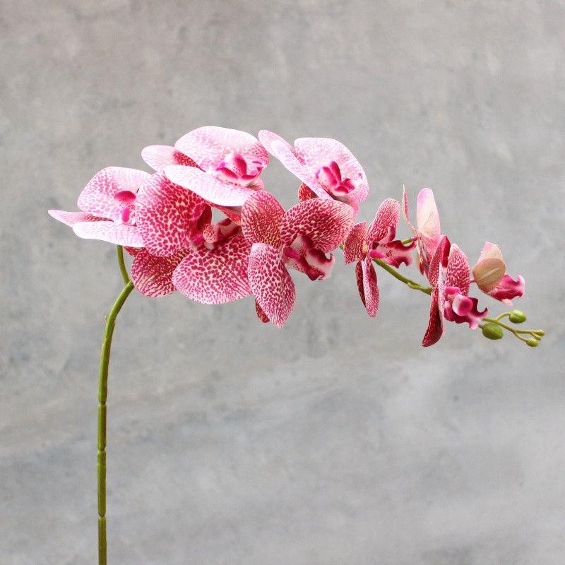 2 Tamaño Phalaenopsis Orquídea de Seda Real Touch Flor Artificial Flor de la boda Orquídea Floral Fiesta de Navidad Envío Gratis
