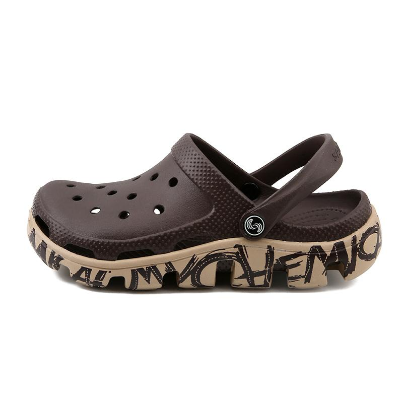 La venta caliente-Crock zapatos masculinos de Verano Sandalias Zapatillas Sandalet hombre Sandali Croc zuecos Nuevo 2019