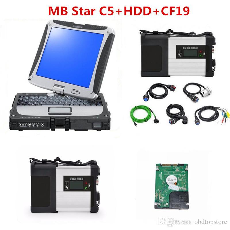 SD Connect 5 MB Estrela C5 com CF19 Laptop 2.020,06 mais nova ferramenta de diagnóstico Software 320GB HDD para carros e caminhões prontos para usar