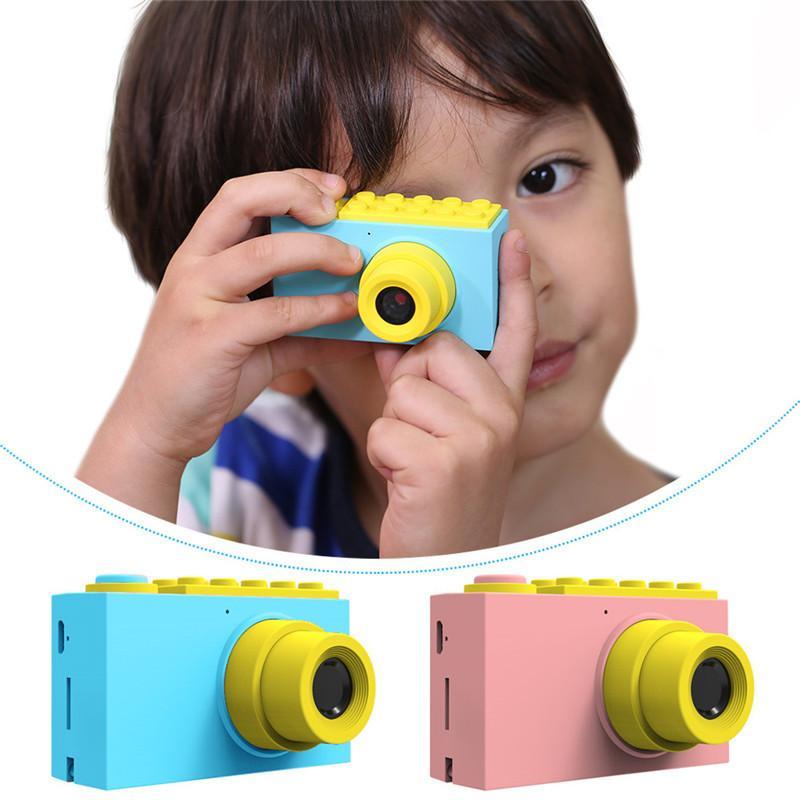 enfants Vidéo haute définition Batterie au lithium Cadeaux de prise de vue portable Home Recording Mini Cam Waterproof Zoom appareil photo numérique 2 pouces IPS écran