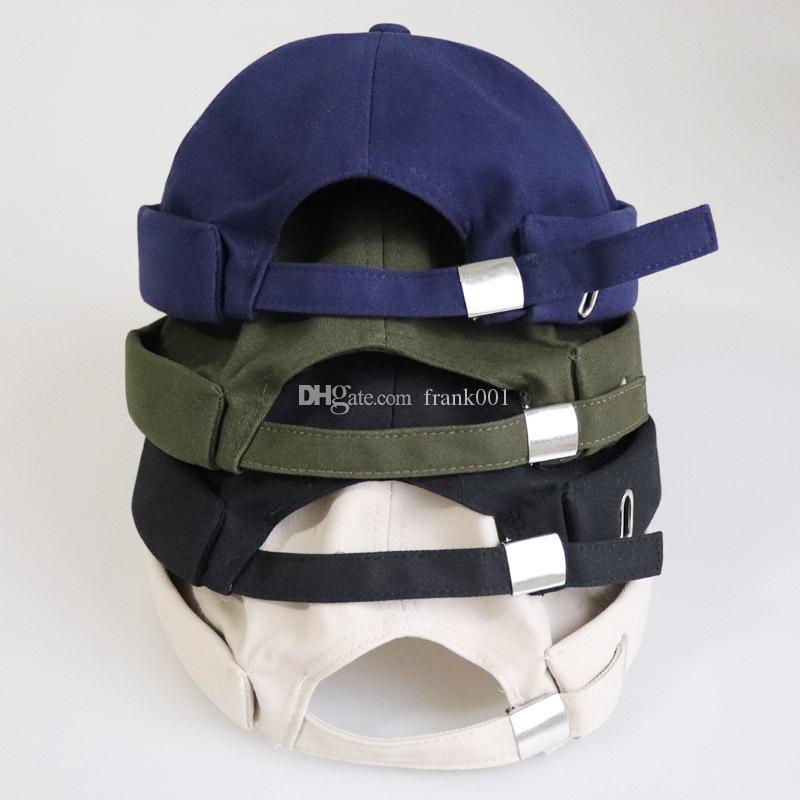 남성을위한 무당없는 모자 여성들을위한 코튼 보닛 Skullcap 블랙 무당없는 모자 도커 선원 시계 비니
