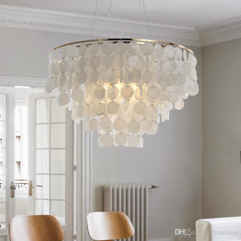 Lampada a sospensione moderna LED Natura Bianco Lampadina a conchiglia Lampada da corridoio Lampada da letto Lampada da interno per interni