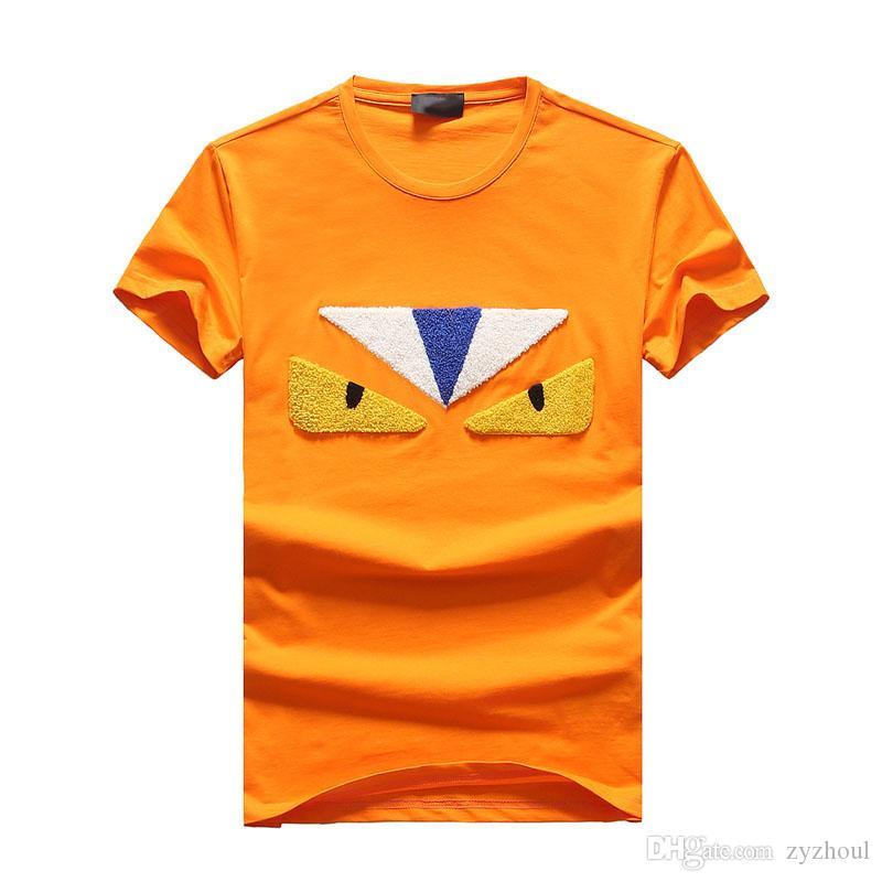 # 1527 Verano Nueva tendencia de la moda masculinos camiseta de los hombres de impresión de letras manga corta camiseta hombre camisetas de algodón para hombre Hip Hop tes de las tapas