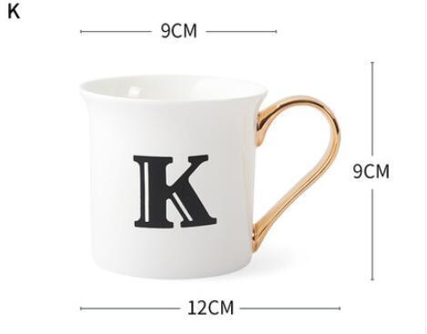 Semplice lettera inglese K tazze maschili e femminili amanti bere acqua per uso domestico tazza dell'osso Cina tazza