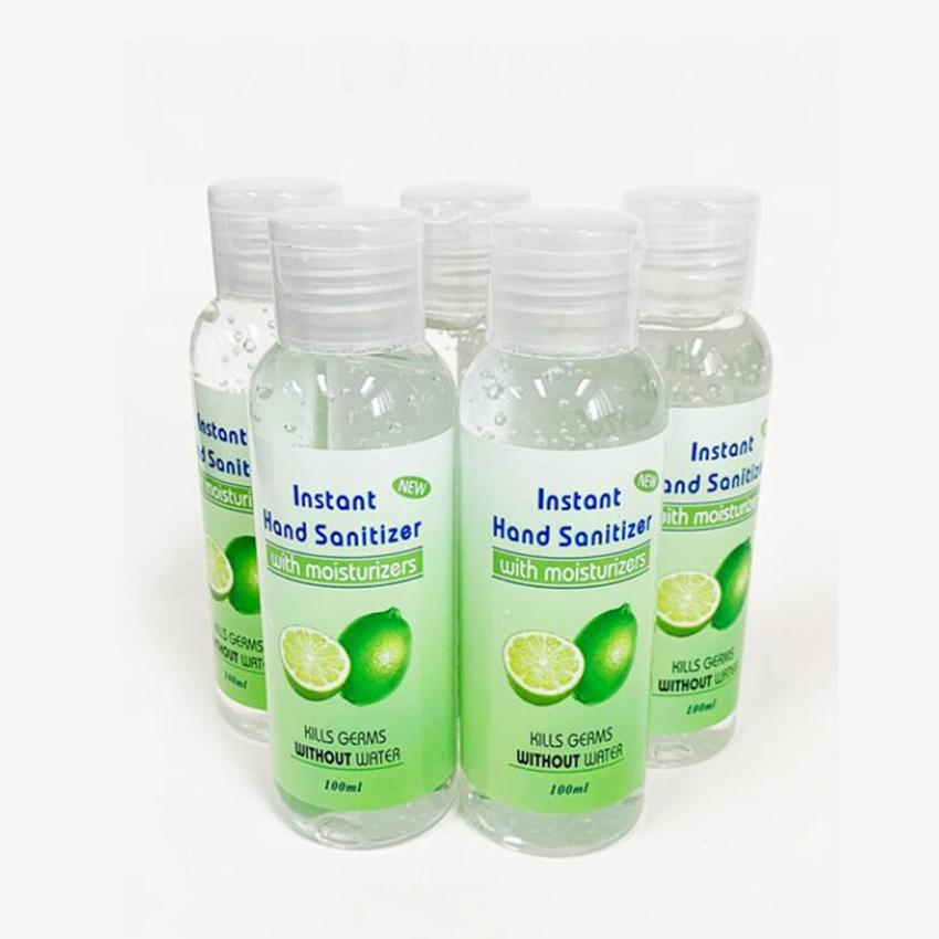 Stock! 100 ml Désinfectant pour les mains avec le parfum Mini Sanitizer Voyage à usage unique Gel Désinfectant pour les mains en plein air Gadgets ZZA2005