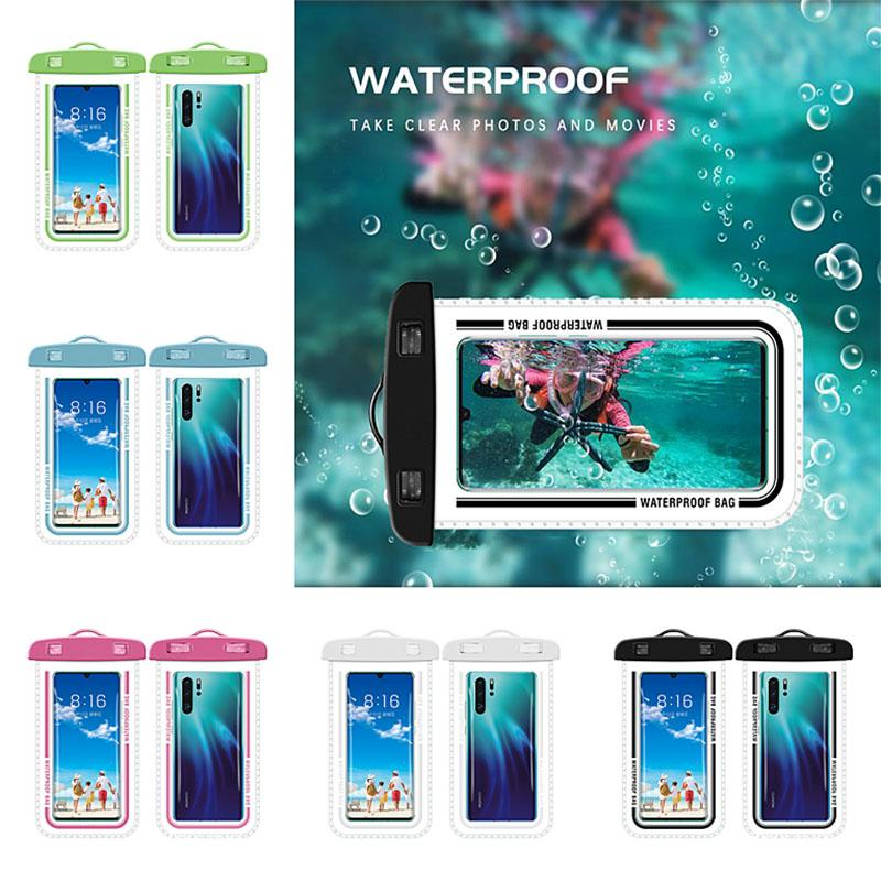 6 colores a prueba de agua caja del teléfono móvil de pantalla táctil Natación impermeable del teléfono caja del teléfono móvil del caso del PVC impermeable