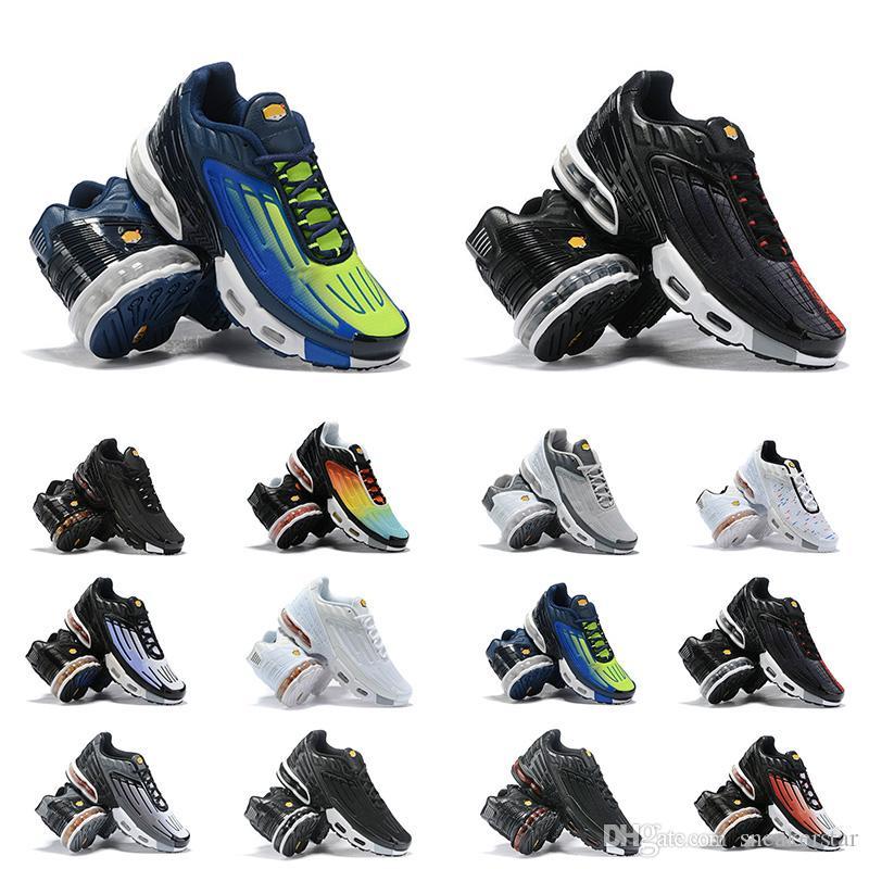 New Arrivée TN Coussin Sneakers Sport Designer Chaussures de course entraîneur des hommes arc-en-Triple Noir Blanc Gris Femmes orange Sneakers Taille 36-45
