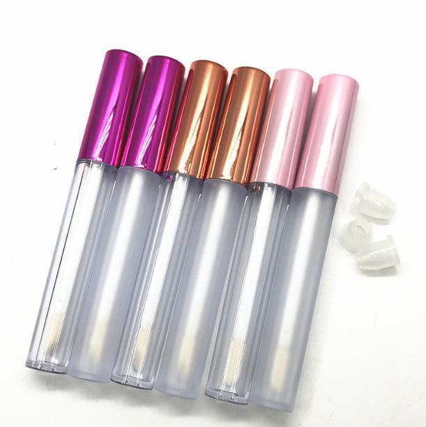 200pcs 2,5 ml Vuotare Lip Gloss tubo trasparente / glassato Lip Balm Tubi Container Mini Rossetto riutilizzabili Bottiglie Lipgloss Tubi