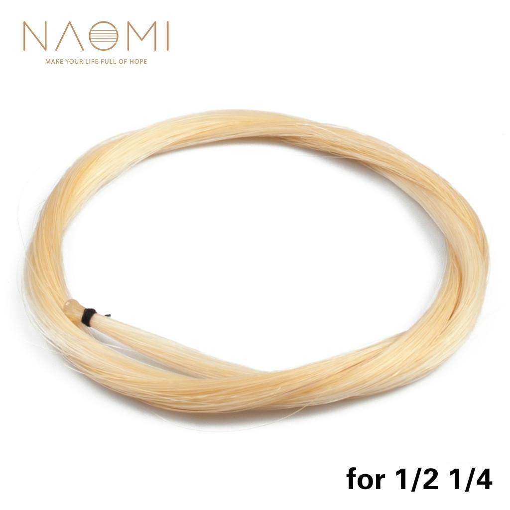 NAOMI 1/2 1/4 Violin Bow Horse Hair White Bow Hair Mongolia Horsehair High Quality Violin Bow Parts Accessories