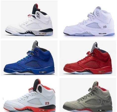 Nueva barato 5 de zapatos de primera calidad Burdeos hombre zapatos de baloncesto Vino tinto de calidad superior 5s zapatillas de deporte para hombre de la marca