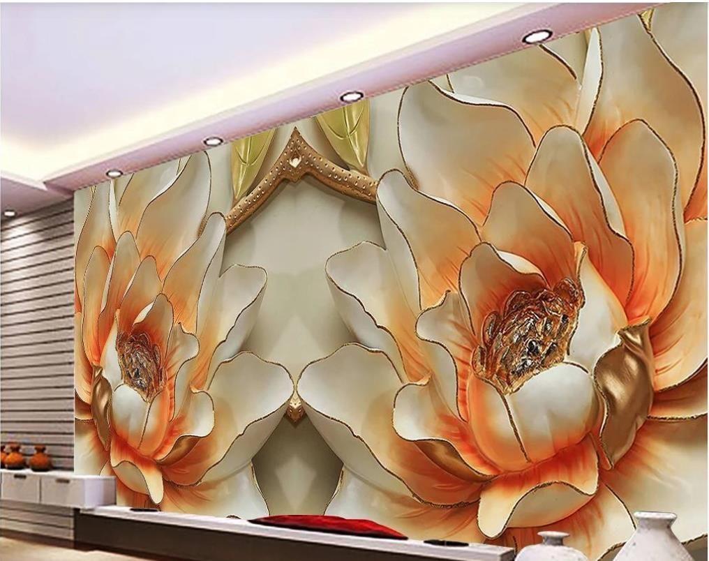 3d обои обои рельефные стены пион рельеф фон цветок украшения картина рельефа фреска настенной живописи