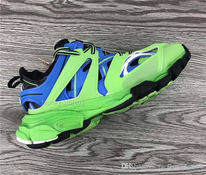 Tess Erkekler Kadınlar Üçlü S Konfor Günlük Ayakkabılar Aksak Sneaker Mavi Pembe Beyaz Moda Baba Ayakkabı Chaussures