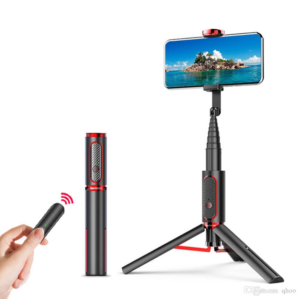 Selfie Monopods Mini Bluetooth suporte da câmera da vara Monopod tripé Sticks All In One Integrado destacável Tripés selfie para Iphone