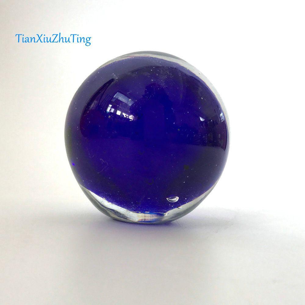 TianXiuZhuTing Glass Sphere Couleur Bleu plat de base