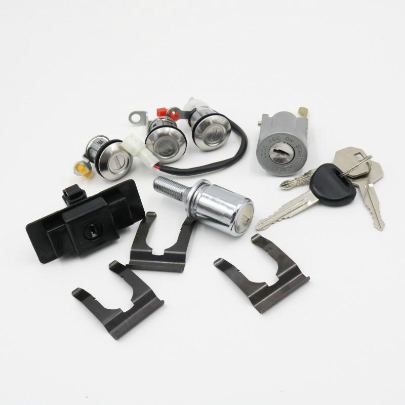 For Mitsubishi Pajero montero MK2 4G54 4G64 4M40 6G72 Car lgnition/Glove Box/Spare Tire/Door Lock Cylinder With Key Full Set