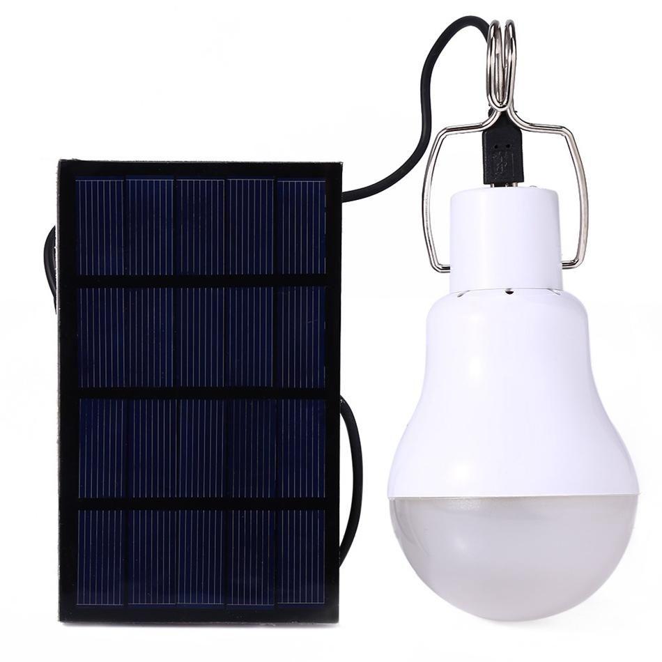 Lampada a energia solare Conservazione energia utile lampadina principale portatile chiaro Charged Lampade da esterni Garden tenda da campeggio luci OOA4269