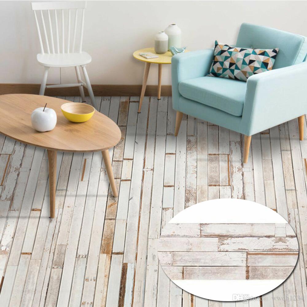 Self Adhesive Floor Tile Wood Sticker DIY Living Room Kitchen Bathroom Decor Home Garden Supplies home Decor