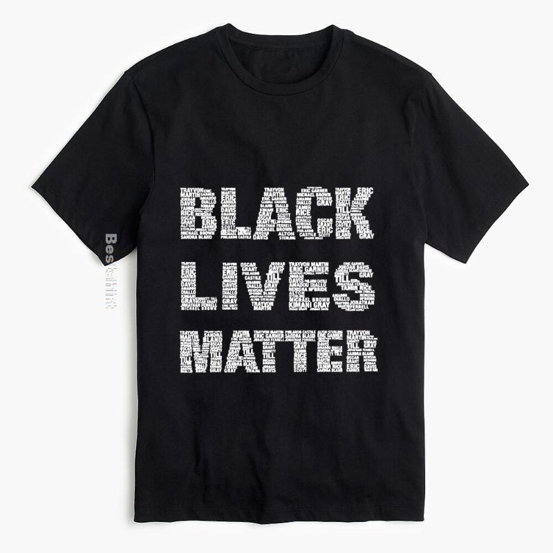Черные Lives Matter Футболка Я не могу дышать Black History BLM Мужчины Женщины Tee Shirt Новая одежда Streetwear
