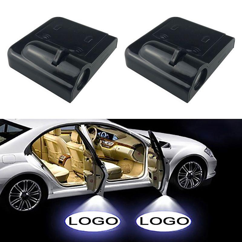 Mazda Renault Peugeot Koltuk Skoda, Volvo Opel Fiat için 2PCS Kablosuz Led Araba Kapı Karşılama Lazer Projektör Logo Hayalet Gölge Işık