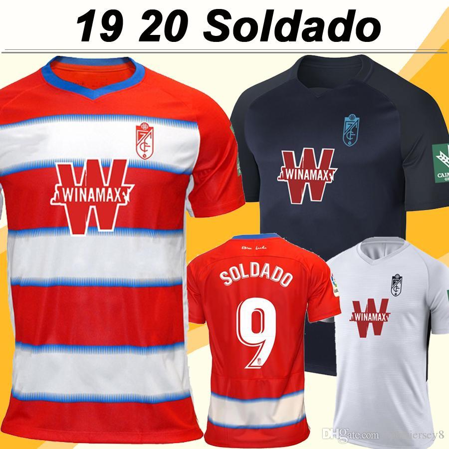 19 20 غرناطة الرجال لكرة القدم الفانيلة سولدادو فاديلو هيريرا الرئيسية قمصان كرة القدم 3RD بعيدا العزيز الجديد Camisetas فوتبول زي كم قصير