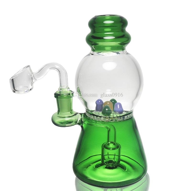 Color glass bong 7.2 inch water pipe transparent color honeycomb perc dab rig 14mm joint factory direct sales