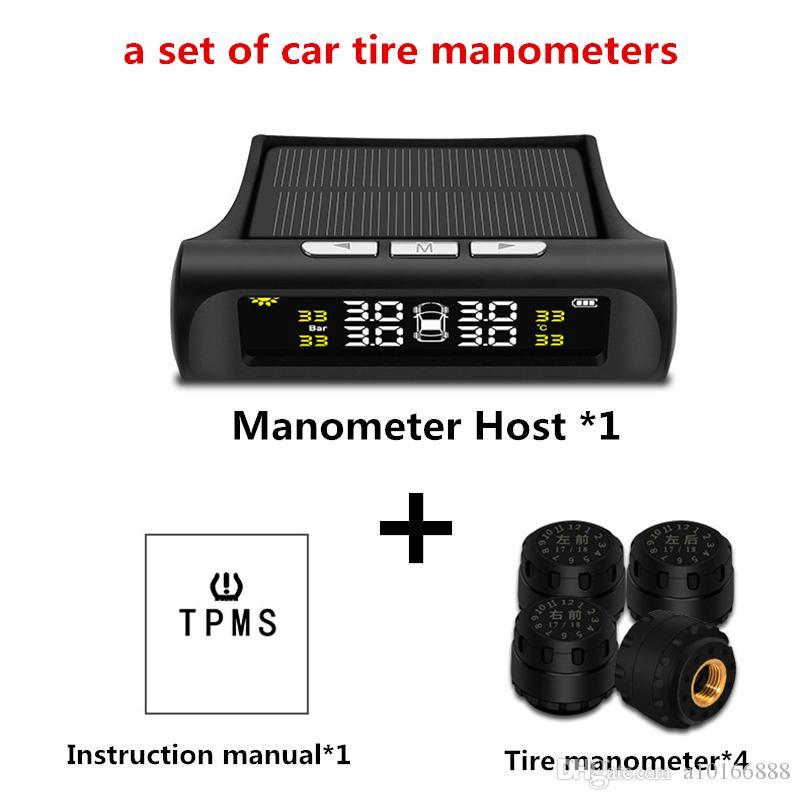태양 강화한 차 타이어 압력 탐지기 TPMS 차 무선 타이어 압력 감시 시스템 외부 감지기 자동 타이어 감지기 USB Charg