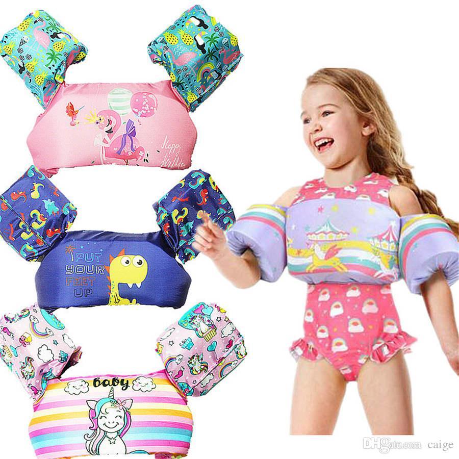 Çocuk karikatür can yeleği yüzdürme ceket bebek yüzme kol daire yüzme havuzu güvenlik eğitim oyuncak yüzme halkası