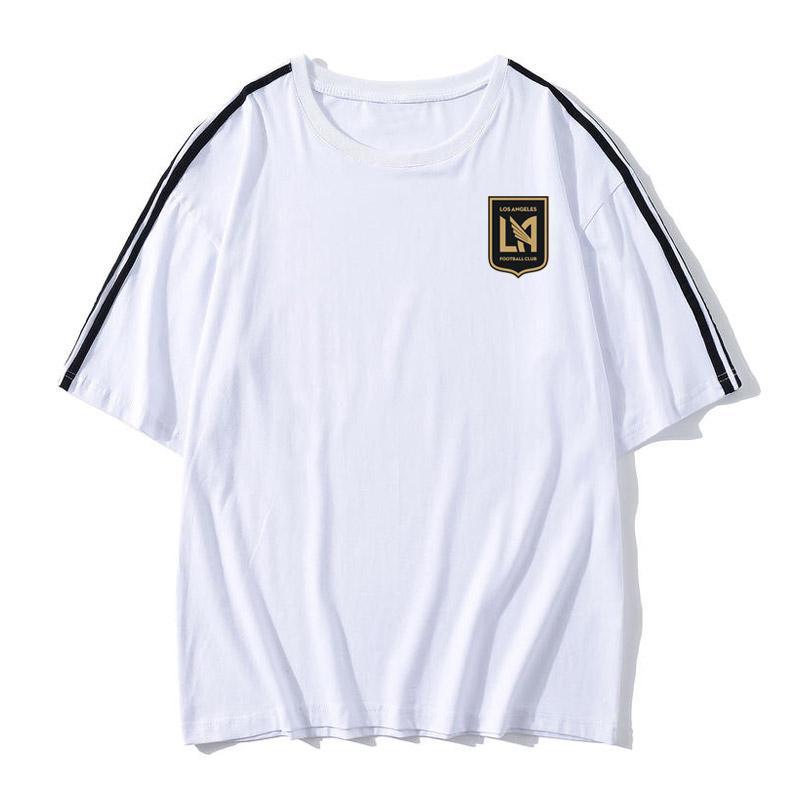 T-shirt da camisa dos homens de Los Angeles FC do futebol do futebol T shirt adulto manga curta de Futebol moda verão Lazer Marca de Futebol