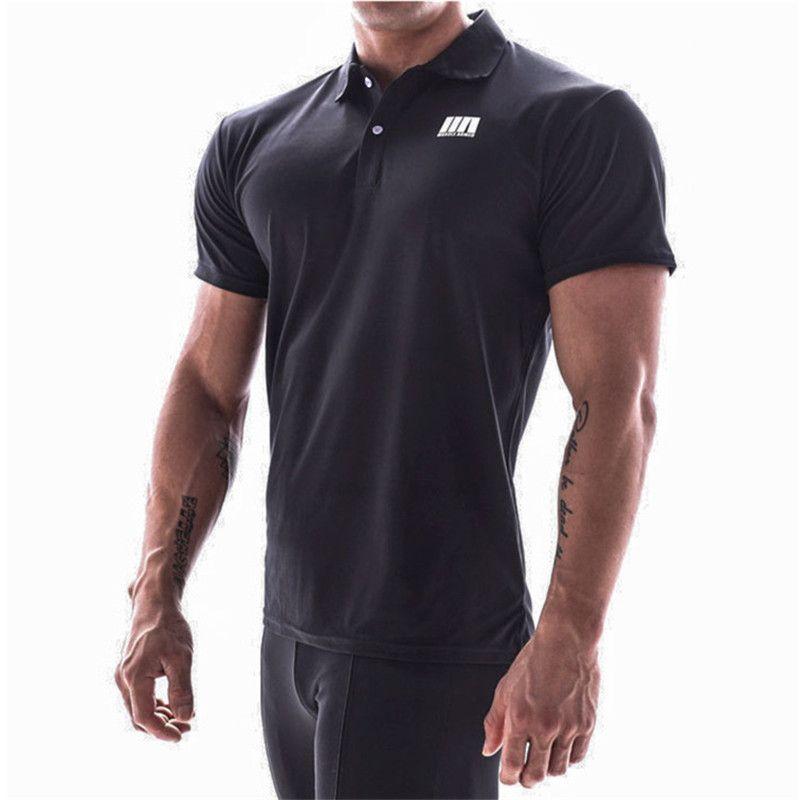 Kısa Kollu Tişört büyük tip M-4XL çalışan 2020 Yeni Yaz marka tişört Man Vücut ve Fitness Spor gömlek erkekler