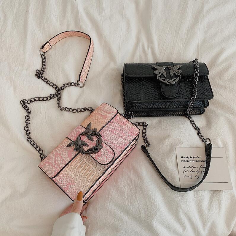 Оптовая продажа фабрики женская сумка новая контрастная кожаная сумка на плечо модный цвет серпантина женщины сумка сладкий глотать замок сумка