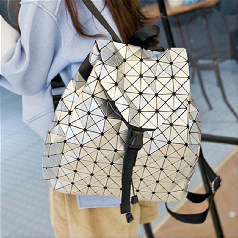 Cube College School Bookbags Японской геометрия Сращивание Lingge лазер Back Pack кулиска Открытие Hot сплайсинг Алмазной леди рюкзак Рубика