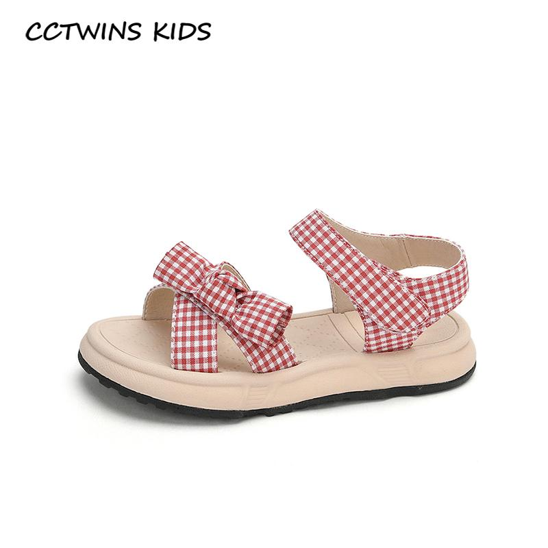CCTWINS Çocuk Ayakkabı 2020 Yaz Çocuk Kelebek Prenses Sandalet Kız bebekler Marka Bebek Moda Düz Siyah PS849 Ayakkabı