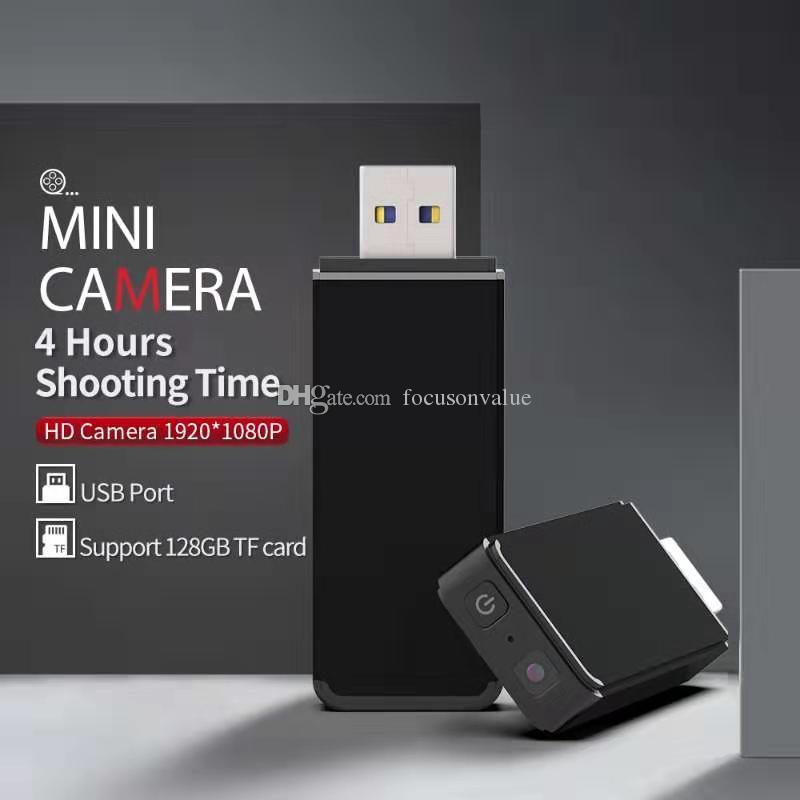 detección de movimiento de la ayuda Cámara Flash Drive MINI DV DVR de la grabación cíclica Full HD 1080P DISCO USB Mini cámara portátil USB