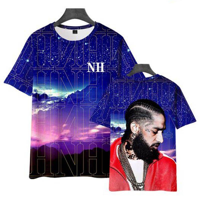 HIP HOP 3D NIPSEY HUSSLE T Gömlek Erkekler Harajuku Streetwear Yaz tshirt T-shirt Erkek Giyim Rahat Boy T Shirt Tops