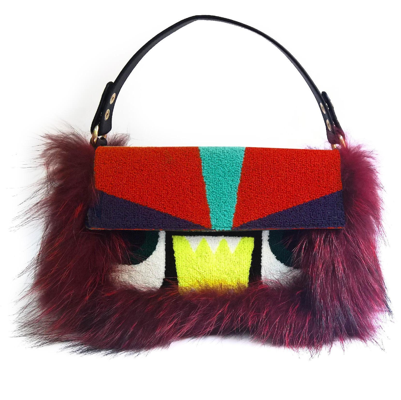 Commercio all'ingrosso sacchetto della pelliccia inclinato 2019 borsa a tracolla personalizzato autunno e l'inverno delle donne