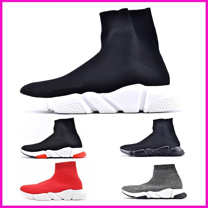 Buy Brand Luxury Designer Sneakers Women Men Paris Speed Trainer Black Red Triple Fashion Sock Boots Shoes sale online