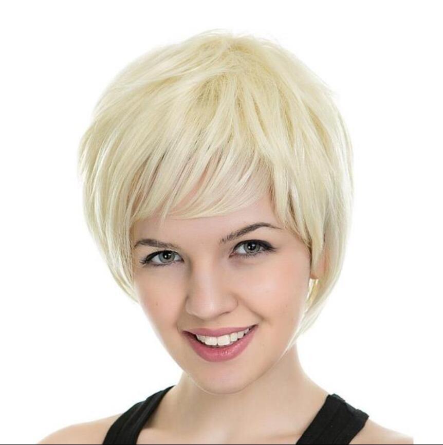 Europäisches und amerikanisches neue Anime-Charakter Perücke weißes Haar flauschige Harajuku Nicht-Mainstream kurze Haare männliches Haar Licht Gold Außenhandel heiß sa