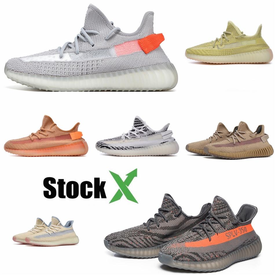 Kanye Sneakers V2 Yecheil Yeehu statique Chaussures de course Phosphorescent Antlia Synth Lundmark réfléchissant Kanye West Chaussures de sport # QA741