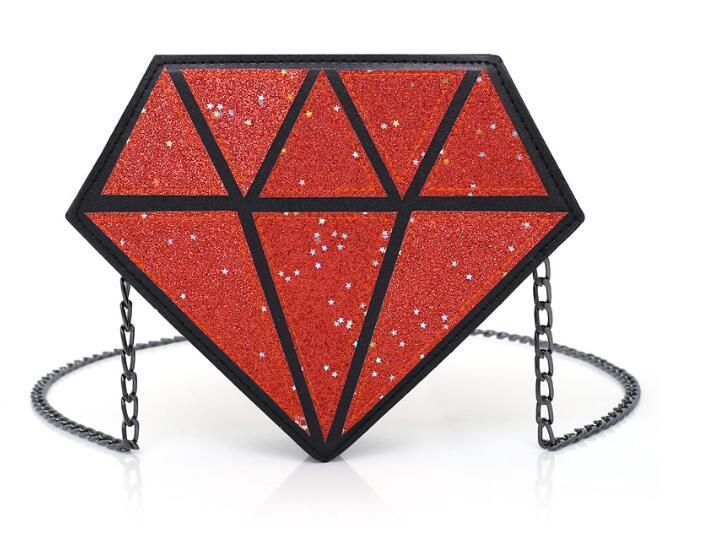 Frauen leuchtende Tasche Frauen Geometrie Diamant Tote gesteppte Umhängetaschen Laser Plain Folding Geldbörsen und Handtaschen Hologramm Clutch 2019