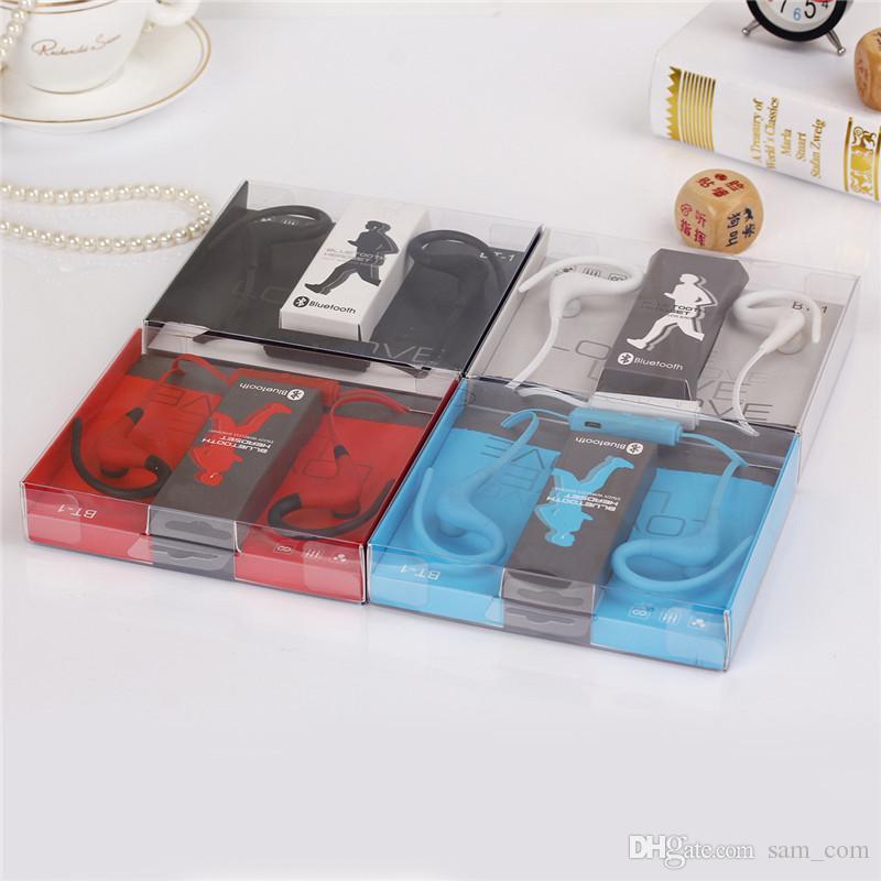 с розничной упаковкой BT1 BT-1 Tour Наушники Bluetooth Спортивные наушники Стерео Беспроводная гарнитура с микрофоном для мобильного телефона