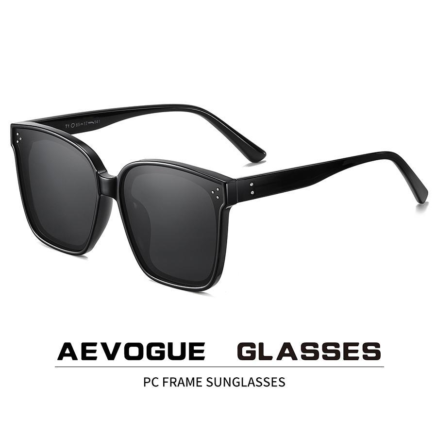 AEVOGUE der neuen Frauen Art und Weise polarisierte Sonnenbrille Transparent Platz Retro Außen Sun-Glas-Weinlese Oculos Unisex UV400 AE0849 MX200619